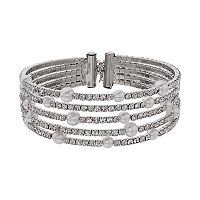 Simply Vera Vera Wang Simulated Crystal Multi Row Bracelet