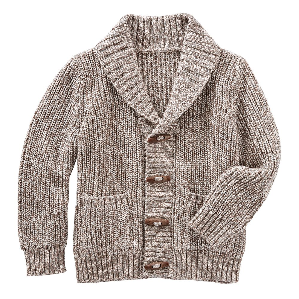 4-10 OshKosh B'gosh® Toggle Button Knit Shawl Collar Cardigan Sweater
