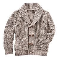 Boys 4-10 OshKosh B'gosh® Toggle Button Knit Shawl Collar Cardigan Sweater