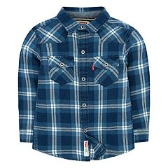Toddler Boy Levi's® Barstow Western Plaid Button Down Shirt
