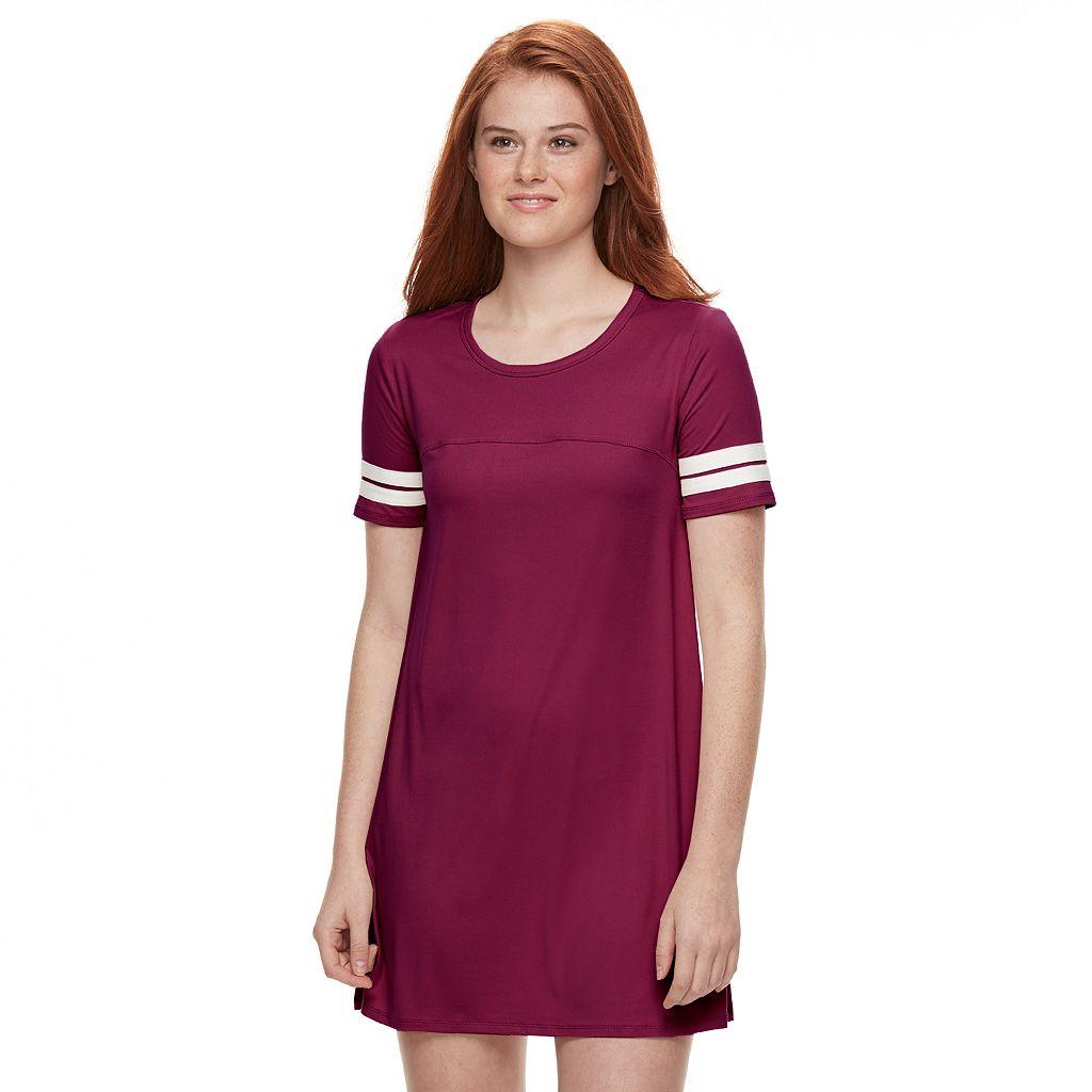 Juniors' About A Girl Varsity T-Shirt Dress