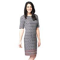Women's ILE New York Geometric Shift Dress
