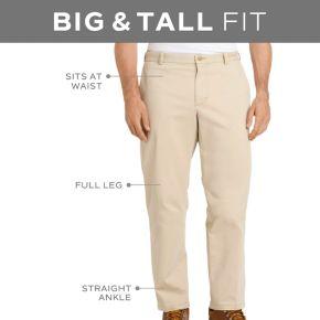 Big & Tall IZOD Twill Flat-Front Pants