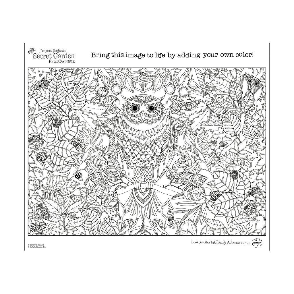 Buffalo Games 500-pc. Johanna Basford's Secret Garden Forest Owl Jigsaw Puzzle