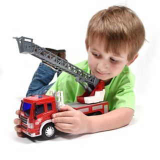 Maxx Action Realistic Action Trucks Fire Rescue Ladder Truck