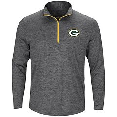 Big & Tall Majestic Green Bay Packers 1/4-Zip Pullover