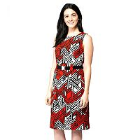 Women's ILE New York Abstract Geometric Sheath Dress