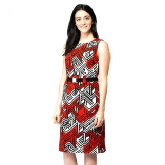 Women's ILE New York Abstract Geometric Sheath Dress