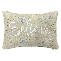 St. Nicholas Square® ''Believe'' Small Oblong Throw Pillow