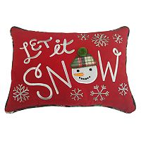 St. Nicholas Square® ''Let it Snow'' Small Oblong Throw Pillow
