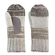 Women's isotoner Variegated Striped Knit Mittens