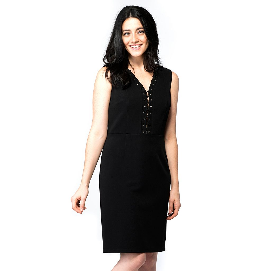 Women's ILE New York Lace-Up Sheath Dress