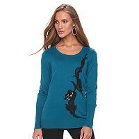 Women's Apt. 9® Sequin Applique Crewneck Sweater