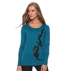 Women's Apt. 9® Sequin Applique Crewneck Sweater