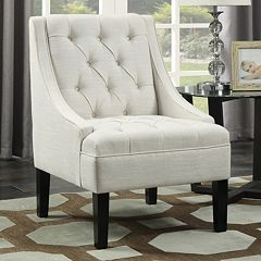 Pulaski Tufted Swoop Arm Accent Chair