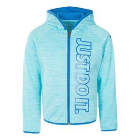 Girls 4-6x Nike Therma-FIT Blue Zip Hoodie