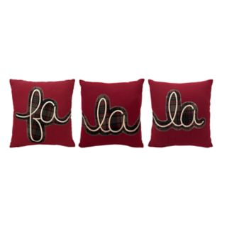 St. Nicholas Square® ''Fa La La'' 3-piece Mini Pillow Set