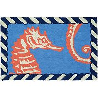 Couristan Covington Accents Horsing Around Indoor Outdoor Rug - 2' x 3'