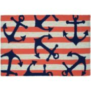 Couristan Covington Accents Anchors Away Indoor Outdoor Rug - 2' x 3'