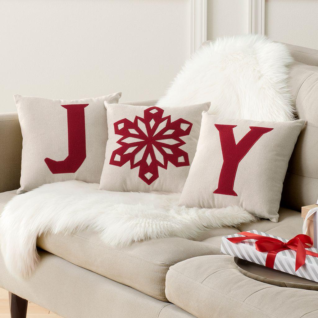 St. Nicholas Square® ''Joy'' 3-piece Small Throw Pillow Set