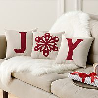 St. Nicholas Square® ''Joy'' 3-piece Small Throw Pillow Set