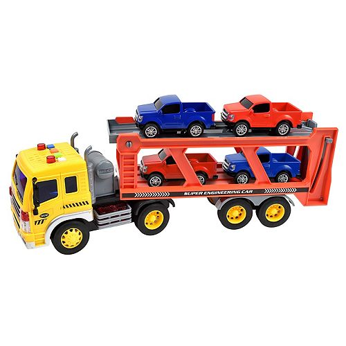 Maxx Action Realistic Action Trucks Long Hauler Carrier Playset