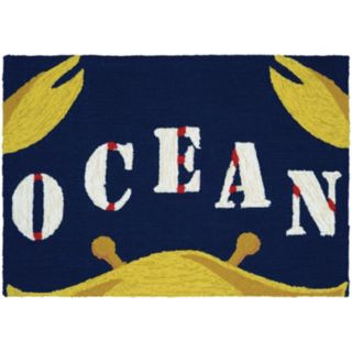 Couristan Covington Accents Gone Crabbing ''Ocean'' Indoor Outdoor Rug - 2' x 3'