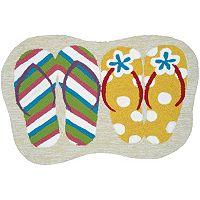 Couristan Covington Accents Summer Sandals Indoor Outdoor Rug - 2' x 3'