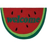 Couristan Covington Accents ''Welcome'' Slice Indoor Outdoor Rug - 2' x 3'