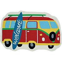Couristan Covington Accents Surf's Up ''Welcome'' Indoor Outdoor Rug - 2' x 3'