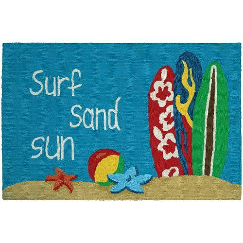 Couristan Covington Accents ''Surf, Sand, Sun'' Indoor Outdoor Rug - 2' x 3'