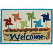 Couristan Covington Accents ''Welcome'' Pinwheels Indoor Outdoor Rug - 2' x 3'