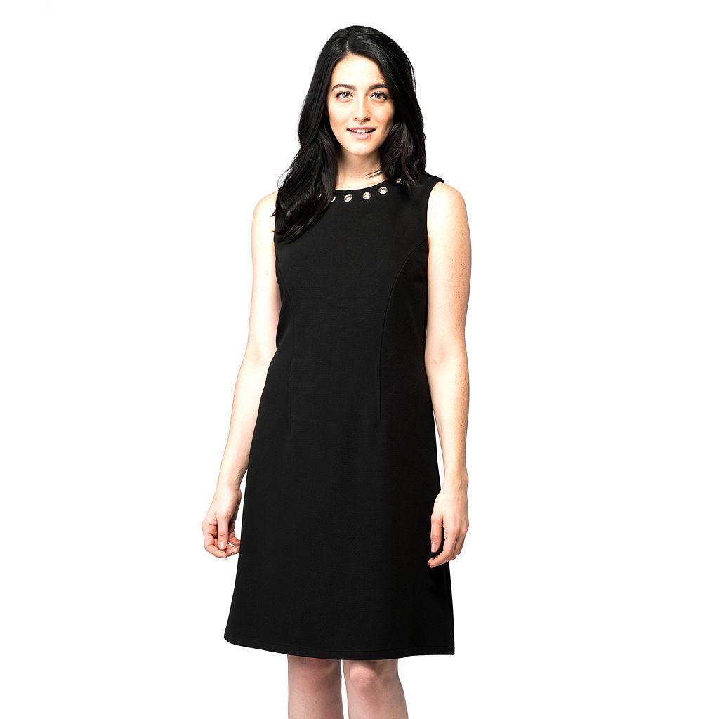 Women's ILE New York Grommet A-Line Dress