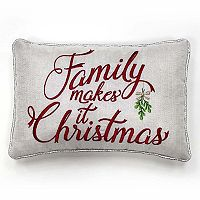St. Nicholas Square® ''Family'' Small Oblong Throw Pillow