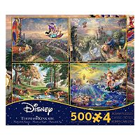 Disney's Dreams 4-in-1 Thomas Kinkade Jigsaw Puzzle Multi-Pack Series by Ceaco