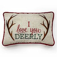 St. Nicholas Square® ''Deerly'' Small Oblong Throw Pillow