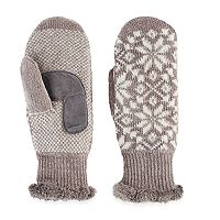 Women's Isotoner Snowflake Knit Mittens