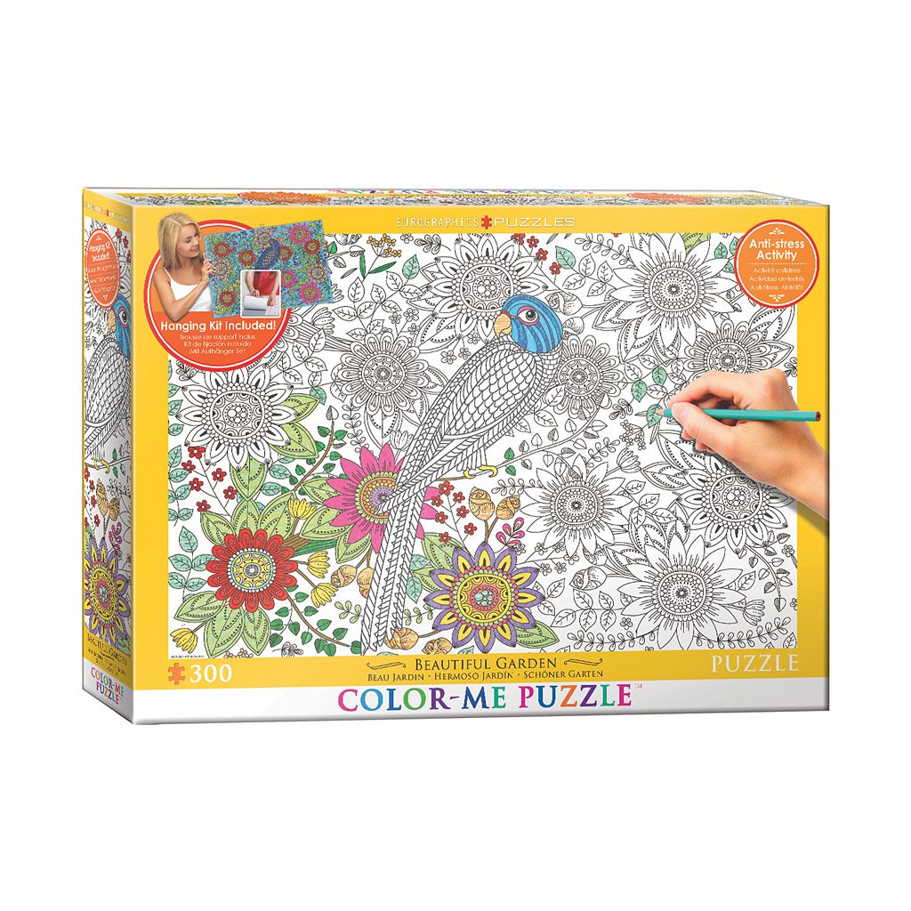 Eurographics Inc. 300-pc. Beautiful Garden Color-Me Puzzle
