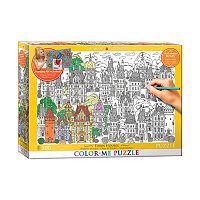 Eurographics Inc. 300-pc. Town House Color-Me Puzzle