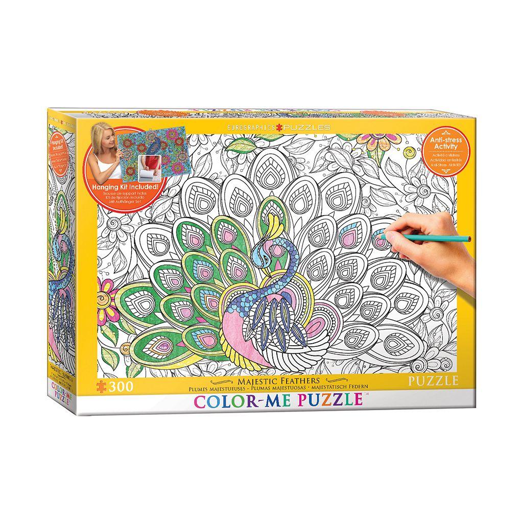 Eurographics Inc. 300-pc. Majestic Feathers Color-Me Puzzle