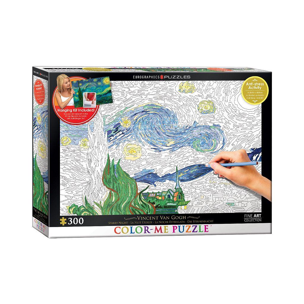 Eurographics Inc. 300-pc. Vincent Van Gogh's Starry Night Color-Me Puzzle