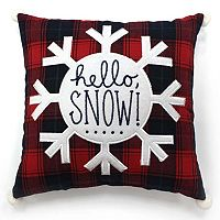 St. Nicholas Square® ''Hello Snow'' Small Throw Pillow