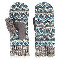 Women's Isotoner Fairisle Knit Mittens