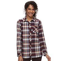Women's SONOMA Goods for Life™ Essential Plaid Flannel Shirt