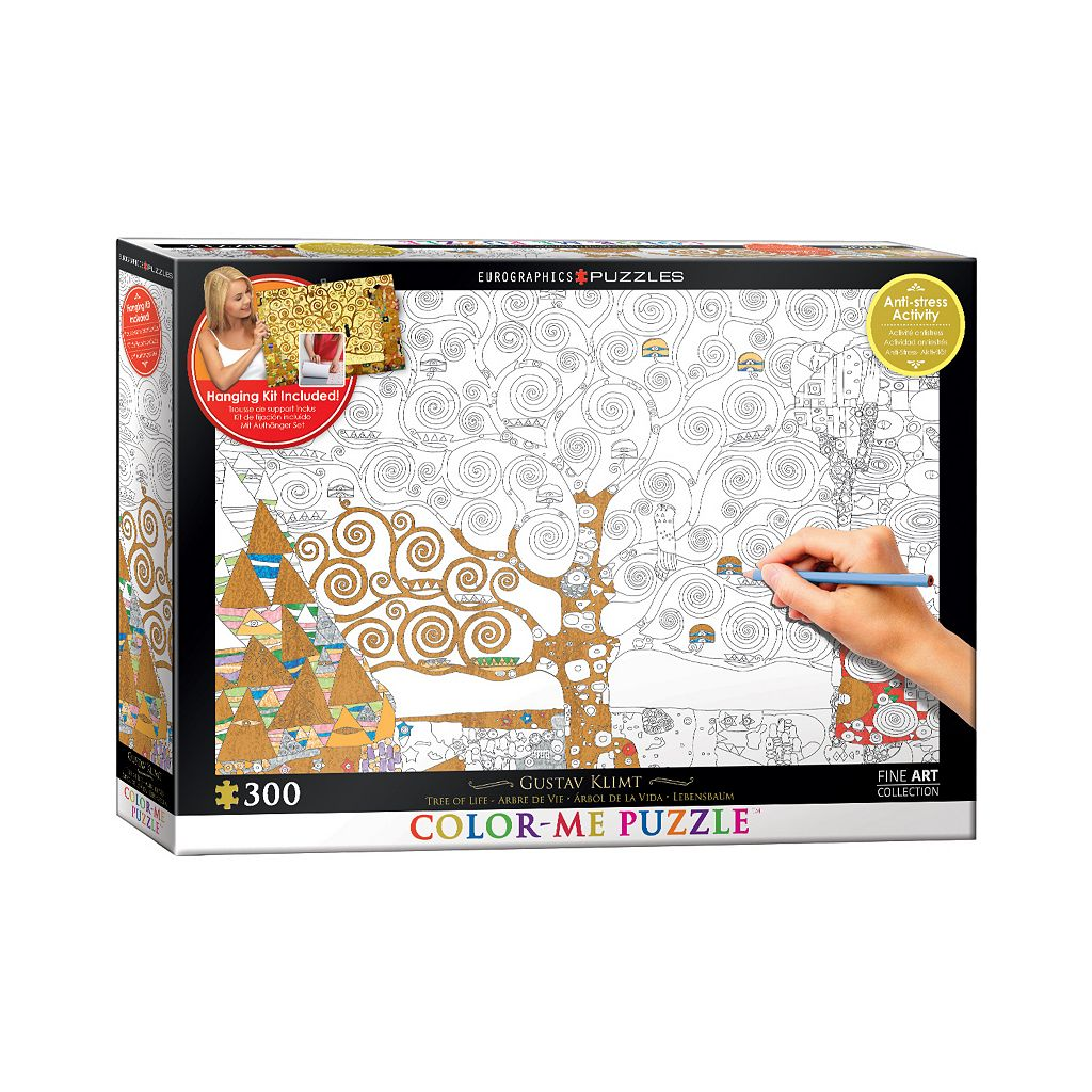 Eurographics Inc. 300-pc. Gustav Klimt's Tree Of Life Color-Me Puzzle