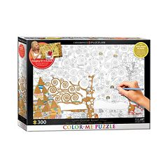 Eurographics 300 pc Gustav Klimt's Tree Of Life Color-Me Puzzle
