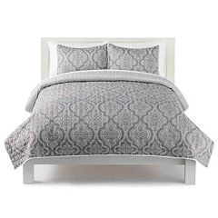 The Big One® Damask Geo Print Quilt Set