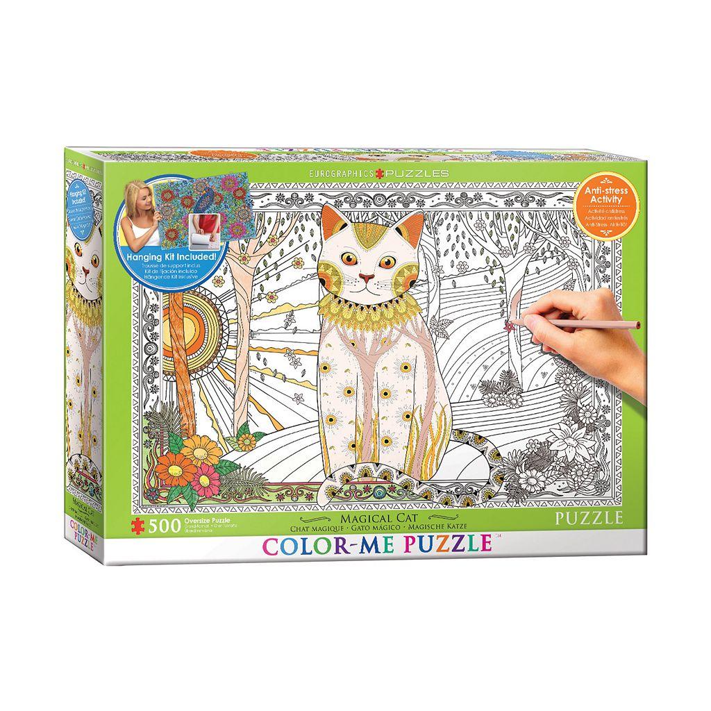 Eurographics Inc. 500-pc. Magical Cat Color-Me Puzzle