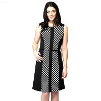 Women's ILE New York Colorblock Striped Sheath Dress