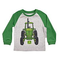 Toddler Boy John Deere Front & Back Tractor Graphic Raglan Tee